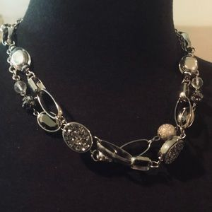 Jewelry - Extra long silver toned necklace